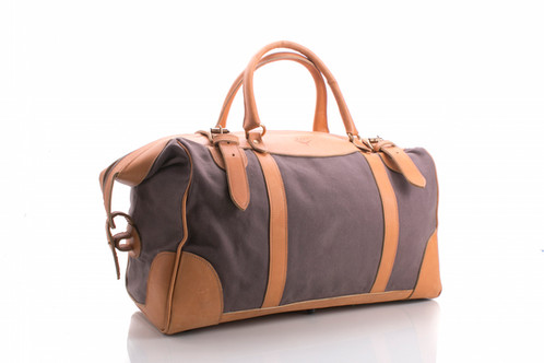 Small Travel Bag Leather Canvas 250 00 Dimensions W 18 5 X D 10 25 H 11