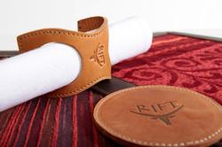 Leather Napkin Holders & Coasters