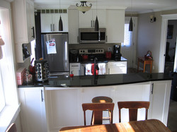 granite and stain steel kitchen