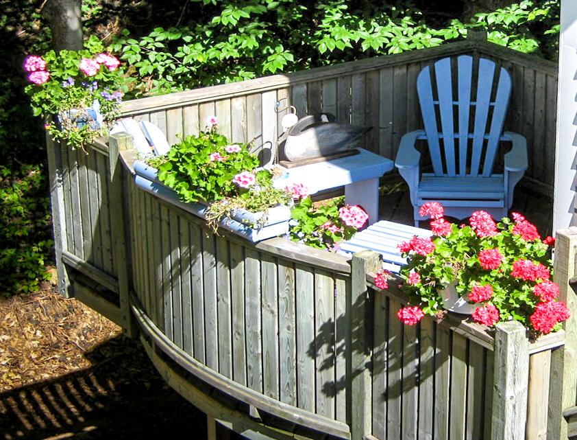 Sunny deck