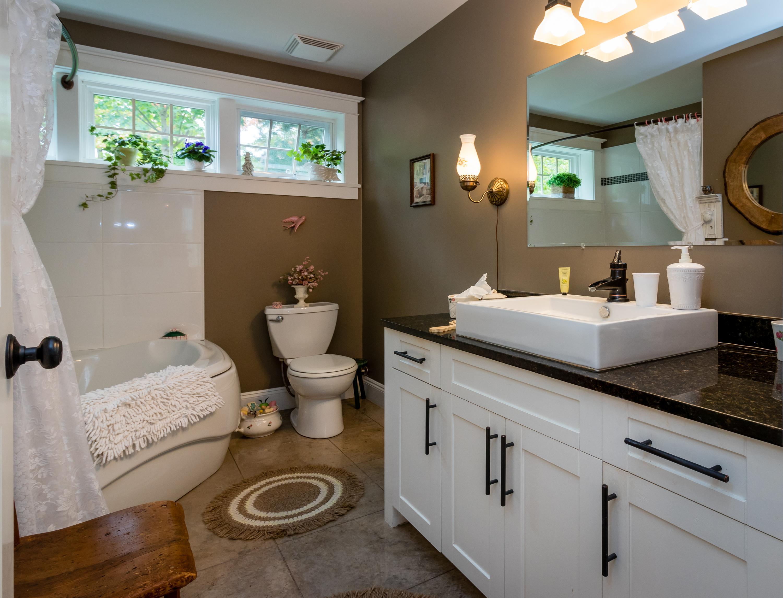 vessel sink on granite vanity