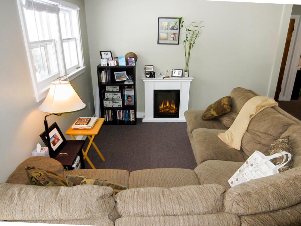 Cozy electric fireplace
