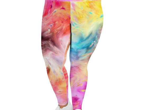 Falling In Happiness All-Over Print Plus Size Leggings