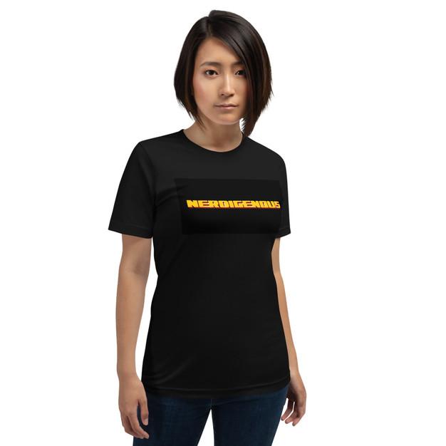 """NERDIGENOUS"" Unisex Athletic T-Shirt"