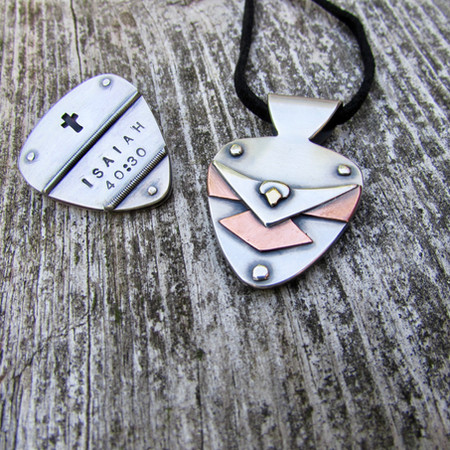 Father/Son Matching Pendant & Token