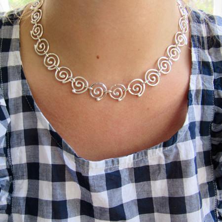 Argentium Swirl Necklace
