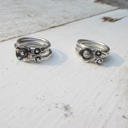 Stacking Flower Rings