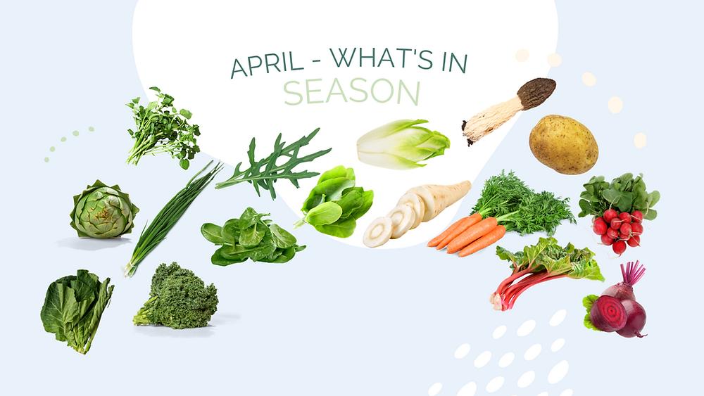 Nina Fischer Nutrition April Seasonal Recipe Blog What's in Season
