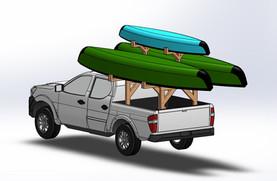 Canoe/Kayak Rack Design for Camping Trip