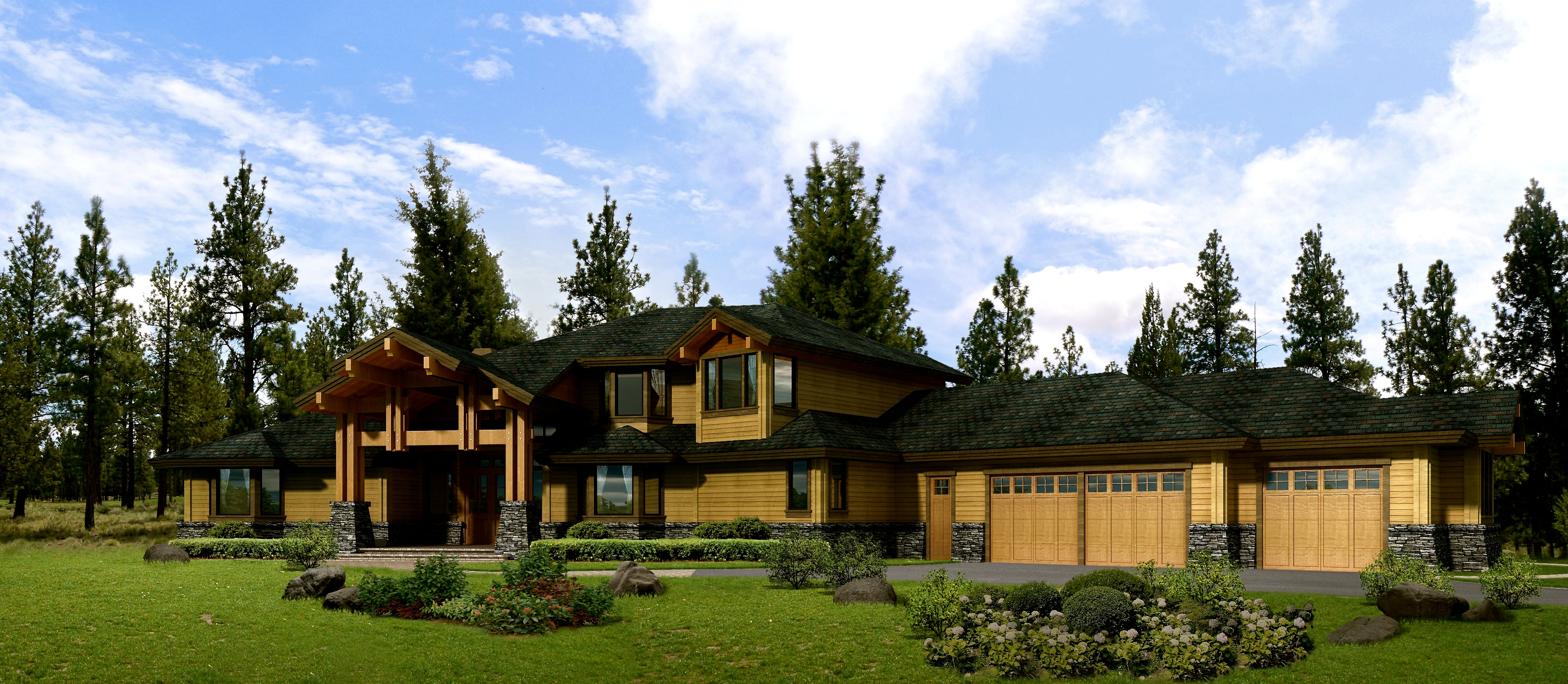 Wooded Golf Course Residence
