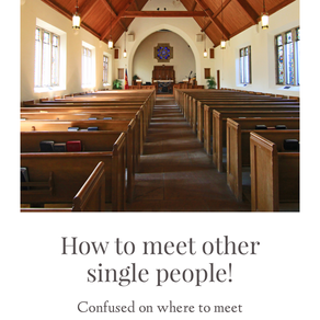 How to Meet Other Single Christians?