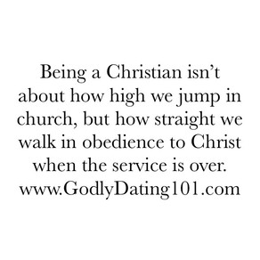 Church-goers Vs. Christians
