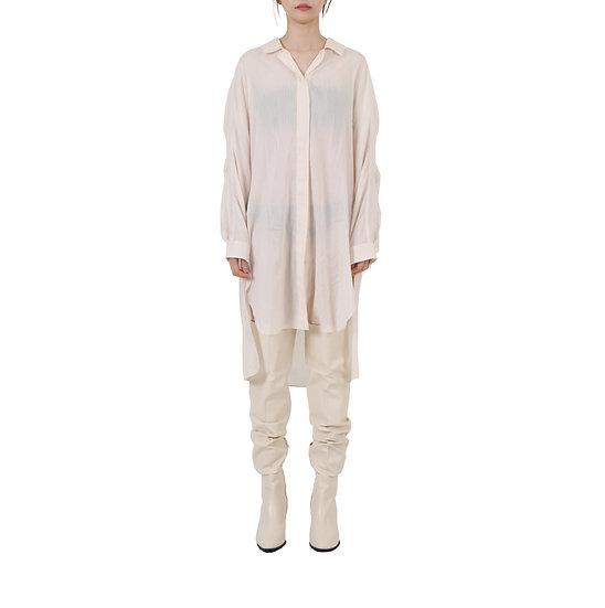 Transparent Silk Long Shirt