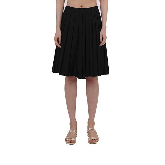Asymmetric Pleats Pants