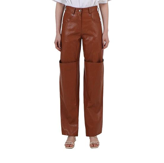 'Tetris' Leather Pants