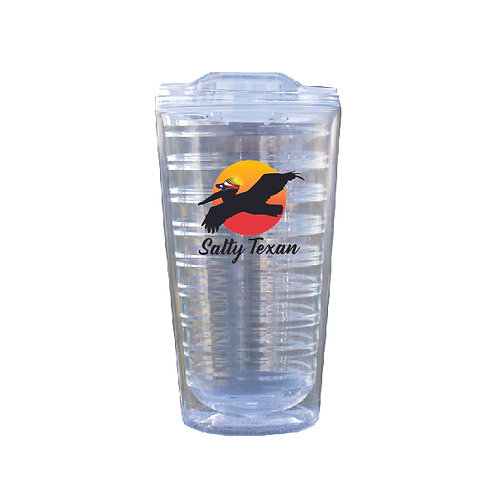 Salty Texan Pelican 17oz Clear Tumbler