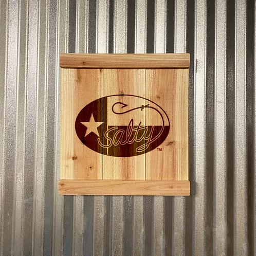 The Salty Texan Cedar Sign
