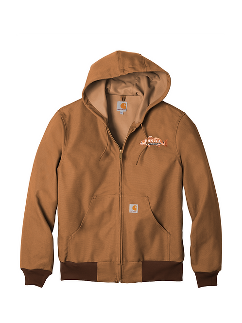 Carharrt Thermal-Lined Duck Active Jacket w/ CCA Badge
