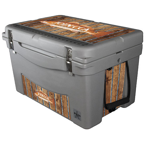 45QT Rotomolded Hardside Cooler W/ Vinyl Wrap