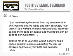 We appreciate your business!!