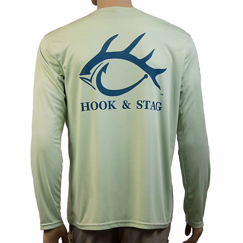 Off Duty Fishing Shirt, Sage, Long Sleeve, Solar Protection, 50+ UPF, Outdoor Shirt, Hunting, Fishing