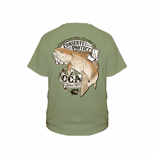 cca, cca texas, conserve and protect, conserve tee, cca tee, fishing tee, conserve fishing tee, protect fishing tee, redfish