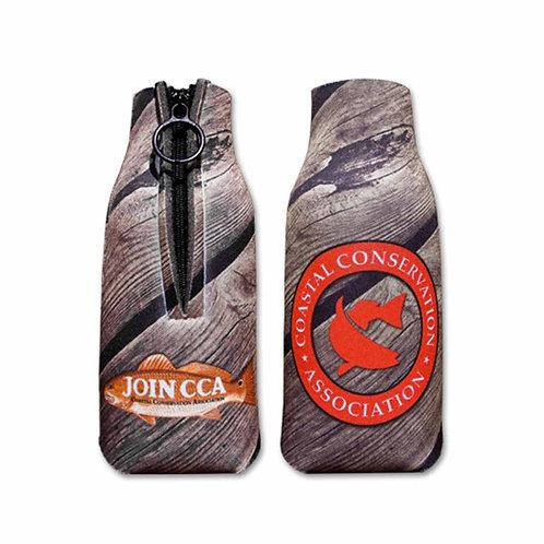 bottle hugger, bottle, sublimated, wood, cca, cca texas, fishing, hunting, camping, drink holder