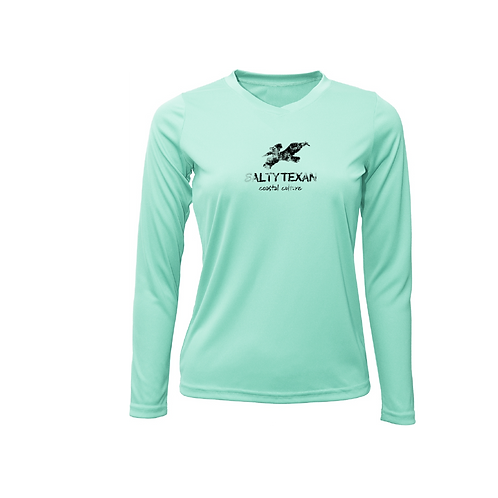 Salty Texan Coastal Culture Ladies Long Sleeve