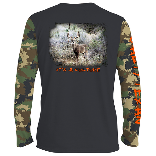Salty Texan Culture Deer Long Sleeve Shirt