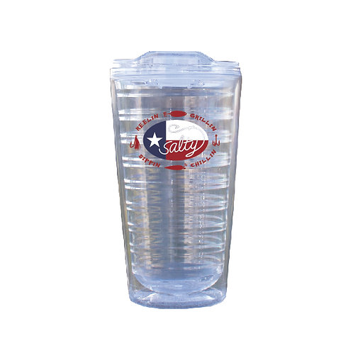 Salty Texan Reelin Grillin 17oz Clear Tumbler