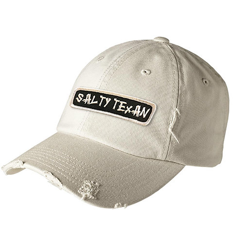 District Distressed Cap w/ Salty Texan Rectangle Badge