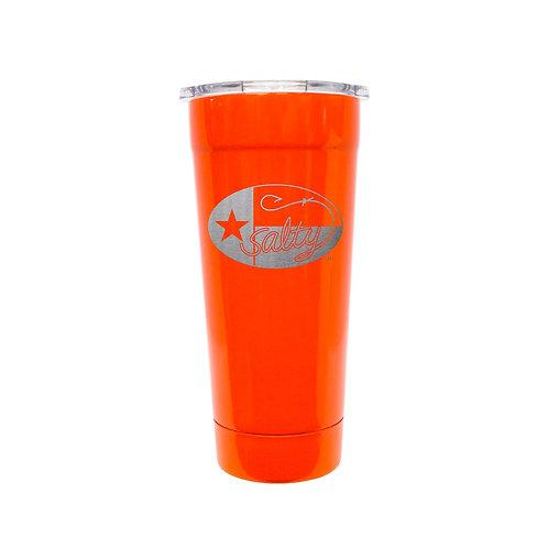 Frio Stainless 24oz Neon Orange w/ Salty Texan Laser Etched