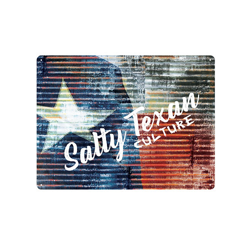 Salty Texan Culture 24x18 Aluminum Sign