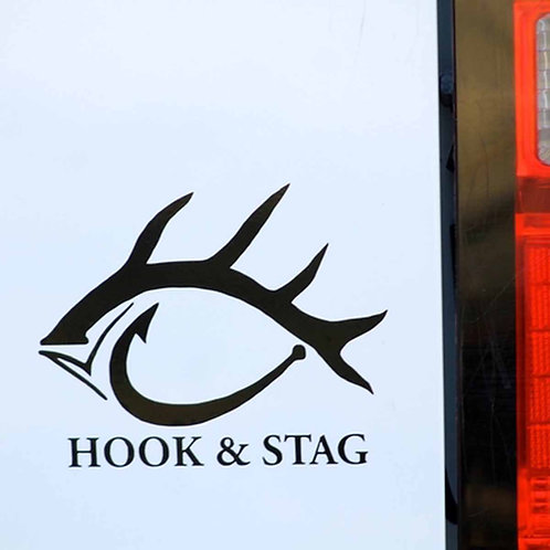 "Hook & Stag - Black 5"" Sticker"