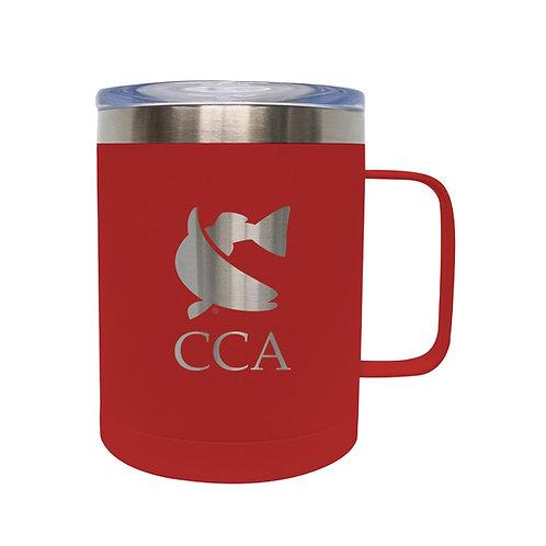 Red, Coffee Mug, Mug, Beer Mug, Steel Mug, Hot Mug, Drink Mug, Fishing Mug, CCA, Join CCA, CCA Mug