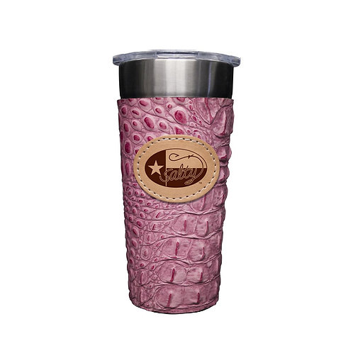 Stainless 24oz Cup W/ Rosa Gator Leather