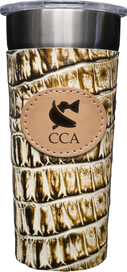 24-7 Cup w/ Leather Wrap & CCA Logo