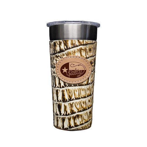 Frio Stainless 24oz Cup W/ Desert Storm Leather