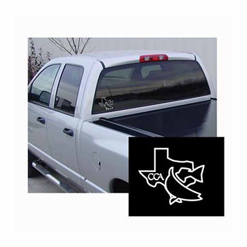 cca, cca texas, boat decal, car decal, fish decal, texas decal, outline, texas, redfish, join cca