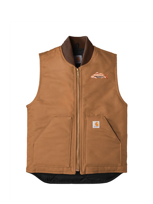 Carhartt Duck Vest w/ Join CCA Redfish Badge
