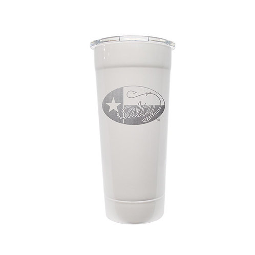 Frio Stainless 24oz White w/ Salty Texan Laser Etched