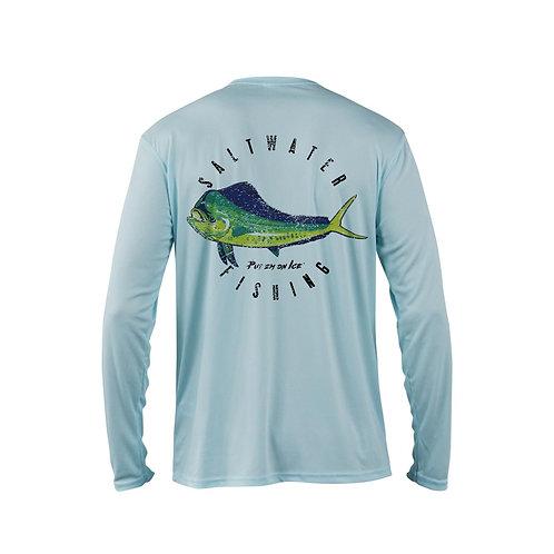 Mahi Mahi Long Sleeve Shirt - Artic Blue