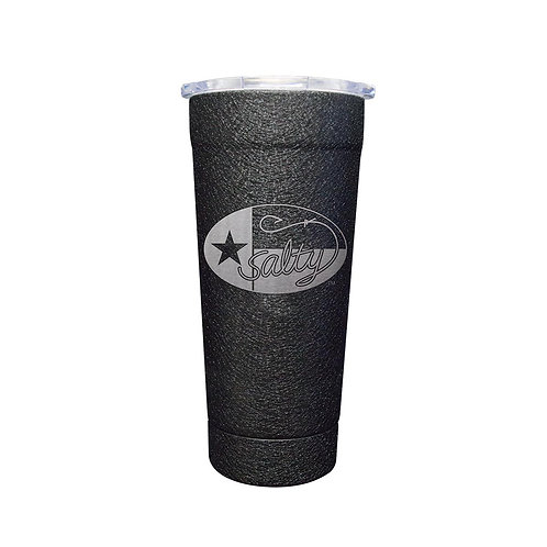 Stainless 24oz Splatter Black w/ Salty Texan Laser Etched
