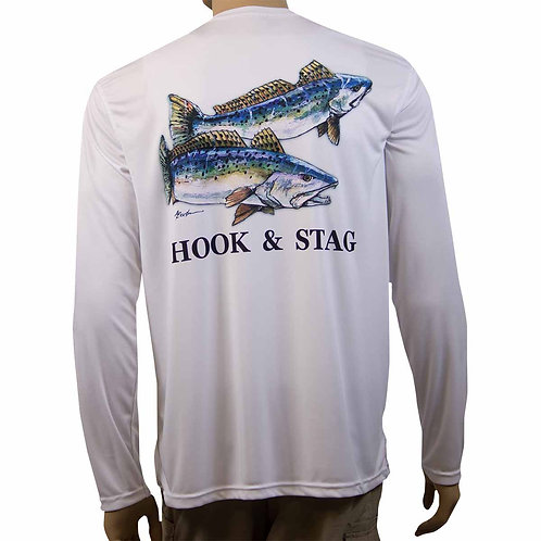 Two Trout Fishing Shirt, Two Trout, Trout, Texas Art, Texas, Bay Fishing, Hook & Stag, Hook and Stag