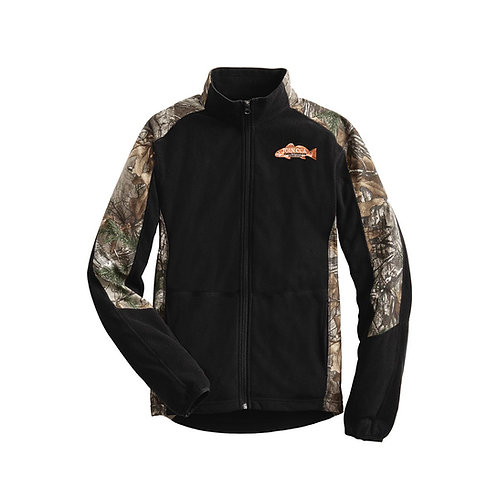 Mens Camouflage Microfleece Full-Zip Jacket w/ Join CCA Badge
