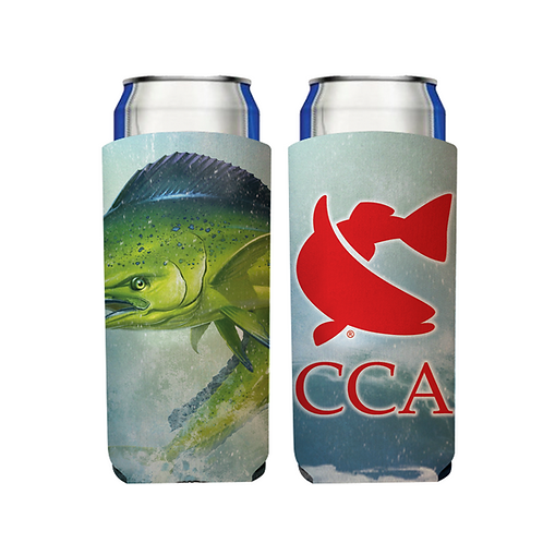 CCA Slim Can Beverage Hugger - Mahi Mahi