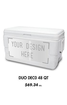 Custom 48Qt Full Size Igloo Coolers