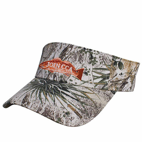 GameGuard Visor with Embroidered Redfish CCA Logo