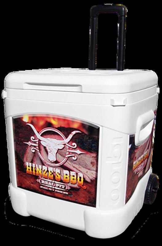 Custom Igloo Coolers Texas Ice Cube 60 Qt Roller