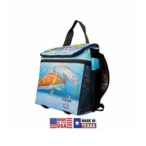 frio backpack, cca, cca texas, backpack cooler, soft side cooler, cca cooler, saltwater cooler, fish cooler,